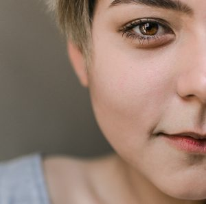 Contorno de ojo de mujer bella